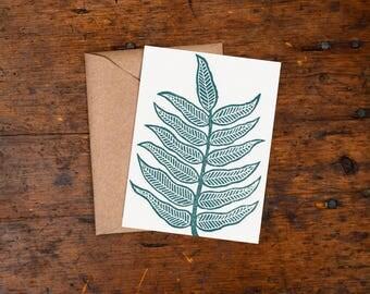 Single Hand Block Printed Card
