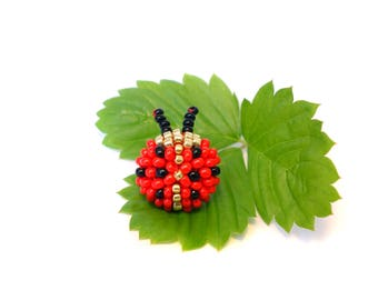 Ladybug little bit a Flowers - cute Studs Earrings - choose CLIP on or Silver studs / post earrings -TOP quality Jewelry with Love for KIDS