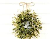 Farmhouse Wreath-Fall Wreath-MINI Window Wreath-Eucalyptus Wreath-Fixer Upper-Farmhouse Decor-Boxwood Wreath-Wall Decor-Small Wreath-Gifts