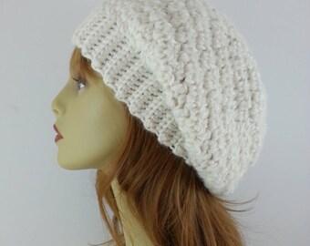 Ivory Slouchy Beanie Slouchy Beanie Womens Slouchy Beanie Womens Winter Hat Slouchy Beanie Hat Slouchy Beanie Alpaca Slouchy Beanie Silk Hat