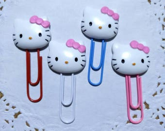 4 Hello kitty paper clip,planner,stationery, book,party