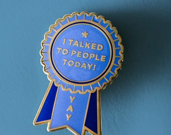 PREORDER: Introvert Award Enamel Lapel Pin