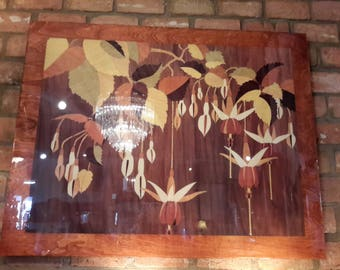 Lacquered Marquetry Veneer Picture Copenhagen of Denmark Luxury Wall Decor Italian Large Sized 46 x 36