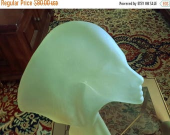 ON SALE FROSTED Lucite Sculpture Woman Figure Statue Austin Productions Inc Star Gazer Art Deco Style