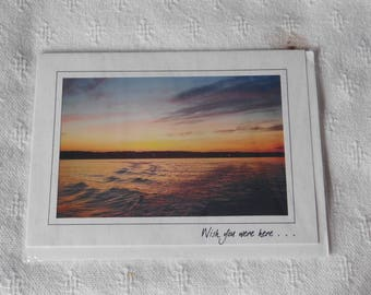 Sunset Photo card