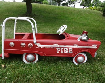 Vintage 1950's original pedal car firetruck Murray toys antique red collectible truck Local Pickup
