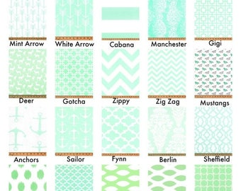 SALE Mint Curtains, Valance, Custom Drapes, Pair Drapery Panels Chevron,Deer,Lattice,Horse 24W or 50W x 63, 84, 90, 96 or 108L Premier Print