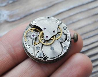 POBEDA Vintage Soviet Russian wrist watch movement.