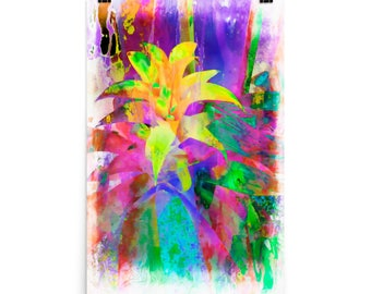 Exotic Yellow Flower, Tropical Plant, Abstract, Museum Poster Print