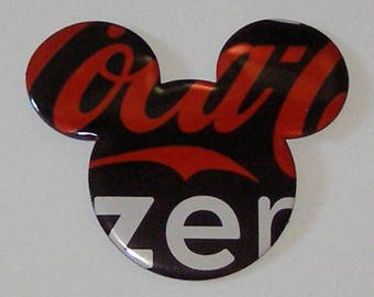MICKEY MOUSE Magnet  - Coke Zero Coca-Cola Soda Can - Smooth Silhouette Face