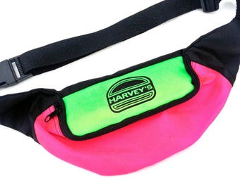Rad 90s Neon Harvey's Burgers Fanny Pack - 24 to 40