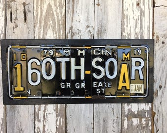 160th SOAR--license plate signs--military signs--160th Soar gifts--gifts for veterans--Army gifts--