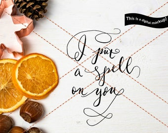 I put a spell on you SVG - Commercial Use License Dxf Svg Eps Jpg Png Cuts - Halloween Quote Clipart for Silhouette for Cricut