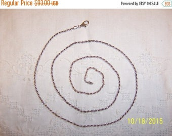 TWICE A YEAR, 25% Off Vintage Long Rope chain. Sterling silver.