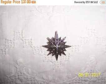 TWICE A YEAR, 25% Off Vintage Marcasite Cross or star pendant. Sterling silver.