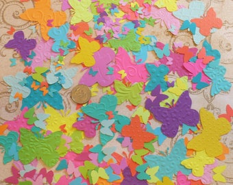 Butterfly / Butterflies - Brights- Punches / pieces Asst. Bright Solid colors for cards crafts Tags Mobiles Murals DIY Crafts