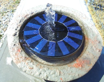 Solar Fountain With Handmade Beautiful Stone Bowl, Shipping Included