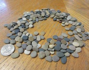 200 Natural Flat beach Pebbles Mosaic Craft Supplies Mosaic Stones Lake Michigan