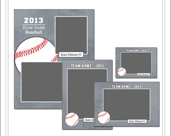 Baseball Memory Mate Templates, Sports Template, PSD Photoshop Template (SM204) INSTANT DOWNLOAD