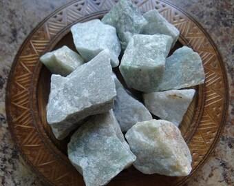 GREEN AVENTURINE Stone Gemstone Crystal Raw 4 oz Wiccan Pagan Metaphysical Reiki Chakra Supply