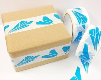 Paper Planes Parcel Tape - Decorative Tape - Sticky Tape - Gift Wrapping - Packaging Tape - Packing Tape - Gift Tape - Tape - Airmail