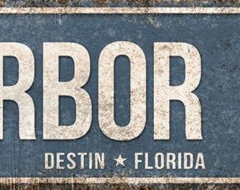 "Harbor Blvd // Destin, Florida  // Metal Sign // 5.5"" x 22"""