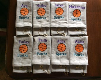 Personalized  basketball towel, with name and number OR school and ball, great seller,