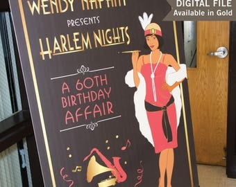 Harlem Nights Invitations Etsy