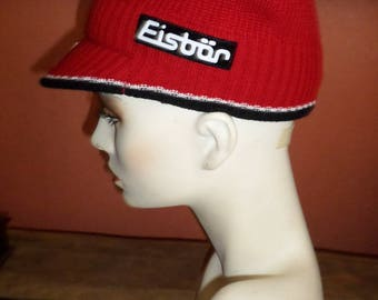 Wool Blend Hat Red made in Austria Cool Hip 50 wool 50 acrylic