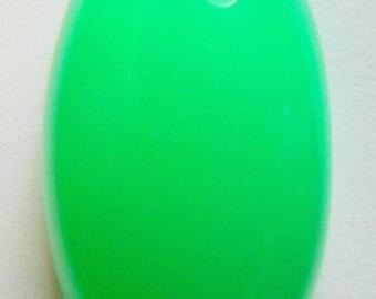 Chrysoprase designer cab glowing green AAA+  maraborough  oval 40.64 ct.Eye clean cabochon