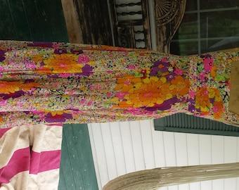 Flower Power Hippie Maxi Dress