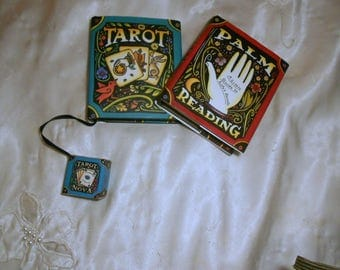 Vintage Palm Reading Tarot  Miniature Books