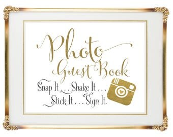 Instant Camera Photo Guest Book Sign | Photo Wedding Guest Book | 5x7 | Wedding Signs | DIY PRINTABLE | Instant Download