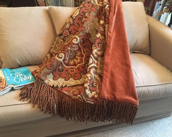 pleasurable designer sofa throws. Moroccan Throw Blanket Rug  Orange Earth Tones Medallions Luxury Blankets Quilts Tribal African Luxurious and Plush Upscale by AlexsAttic on Etsy