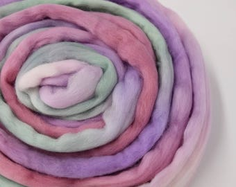 Australian Wool Roving Merino Wool Top felting wool spinning fiber needle felting weaving 18.5 mic 100 g Pastel Mix 11889