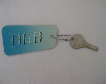 Vintage ULTRA RARE Eagles Hotel California Keychain PROMO