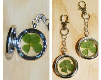 Four leaf clover keychain, Lucky key ring, Real four leaf clover gift, Real 4 leaf clover keychain, Real four leaf clover keychain, Shamrock