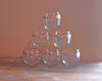 Glasses Roly Poly Tyrol Culver Bar Set Vintage