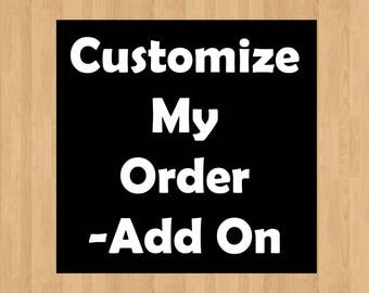 Change Colors of an item/s  (1-5 items). Add this listing and the item you want to change the colors on and checkout. * Customize my order