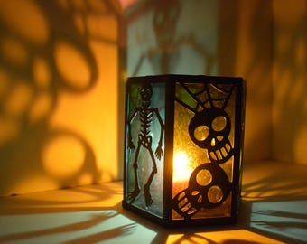 2 Halloween Candle Light Digital Prints