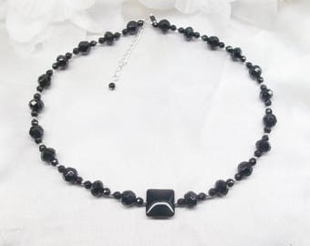 Sterling Silver Black Onyx Necklace Silver Sterling Black Onyx Necklace Silver Sterling Necklace Sterling Silver Necklace BuyAny3+Get1 Free