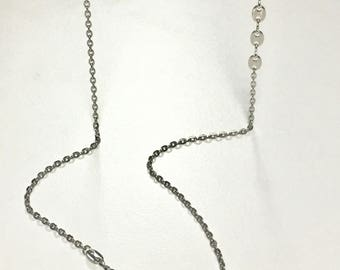 Simple 2 Chain Necklace SILVER