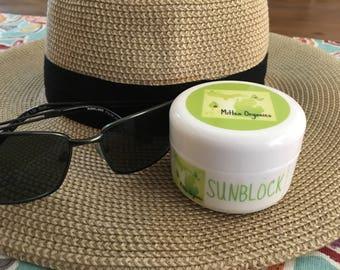 Hand Crafted Organic Sunblock - 4 oz jar