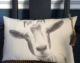Goat Pillow / Elvis with express shipping