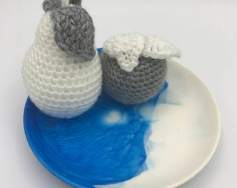 Blue and White Resin Dish