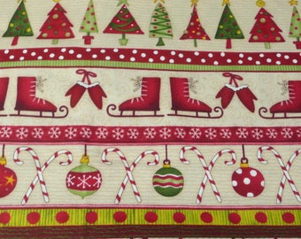 Debbie Mumm Ho Ho Holidays Christmas Print 1 Yard