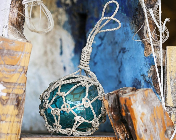 """Beach Decor Fishing Float 6"""" Turquoise Blue by SEASTYLE"""