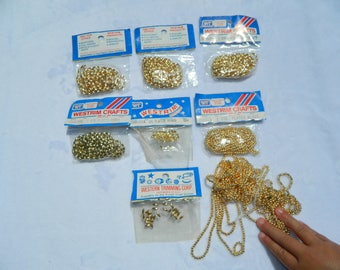 Vintage Westrim Gold Plated Beads