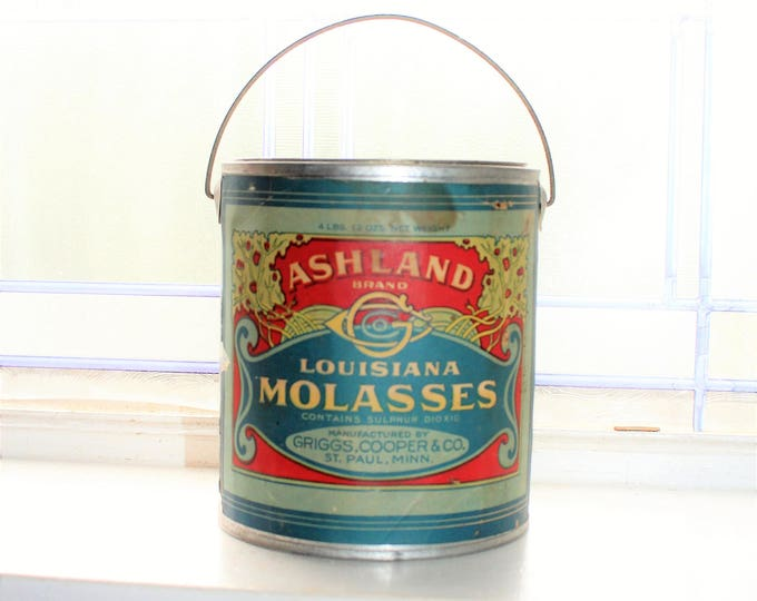 Antique Ashland Louisiana Molasses Tin