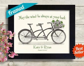 Personalized Irish Wedding Gift, Ireland Map Shamrock Art, Unique Engagement Gift, Irish Gift, Saint Patricks Day, Irish Blessing Print
